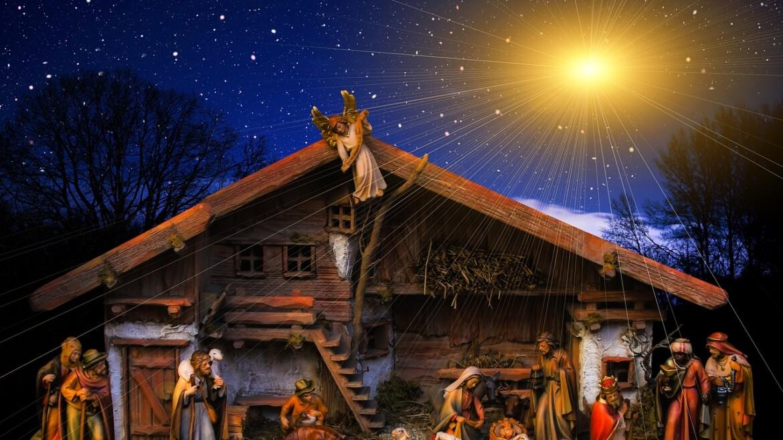 Szopka Bożonarodzeniowa i lodowe choinki w Zakopanem
